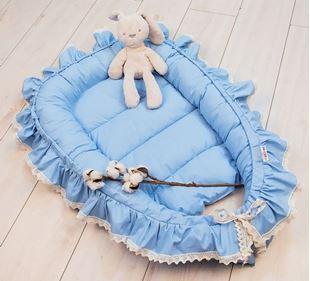 Obrázok Dojčenské hniezdočko, kokon Boho Style LUX, 60 x 90 cm - modré