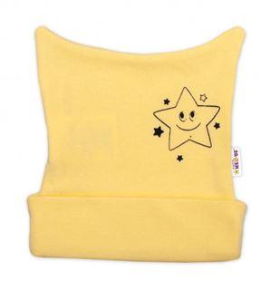 Obrázok Novorodenecká čiapočka Baby Little Star - žltá