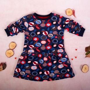 Obrázok Dievčenské bavlnené šaty, Ovocie - granátové