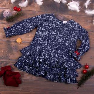 Obrázok Detské šatôčky Bodky - granát