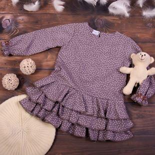 Obrázok Detské šatôčky Bodky - cappuccino