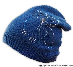 Obrázok Jarné / jesenné čiapky Malá sova - jeansové modrá