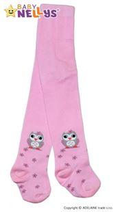 Obrázok Bavlnené pančucháče - Malá sova ružové