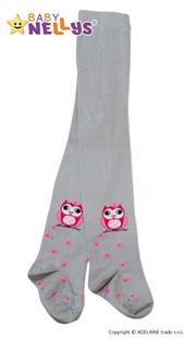 Obrázok Bavlnené pančucháče - Malá sova sivé