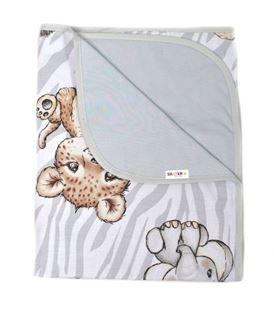 Obrázok Obojstranná letná deka Bavlna + jersey 100x75cm, ZOO Natural - šedá