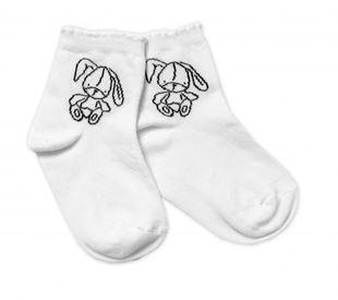 Obrázok Bavlnené ponožky Cutte Bunny - biele