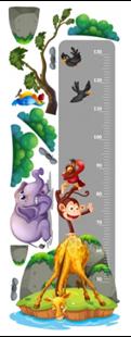 Obrázok Meter na stenu - Safari zvieratká
