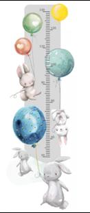 Obrázok Meter na stenu - Zajačikov a balóniky