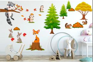 Obrázok Samolepka na stenu Les a jeho zvieratká